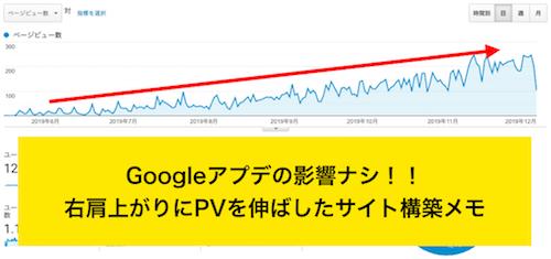 6ヵ月放置でブログPVを右肩上がりにする3つのポイント【Googleアップデートの影響ナシ】